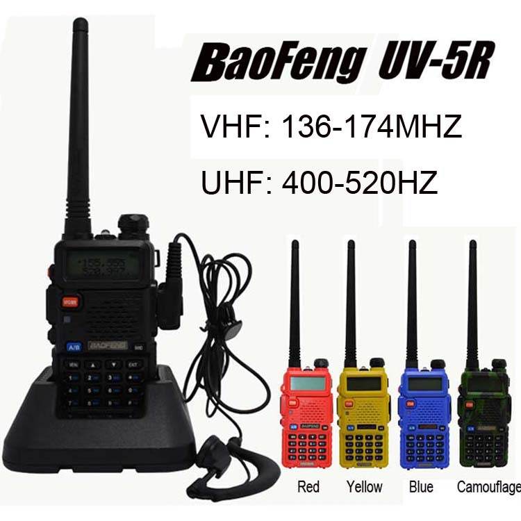2015 Hot sale walkie talkie Baofeng UV-5R dual band vhf uhf 136-174/400-520MHZ radio station Portable hand walkie talkie UV 5R(China (Mainland))