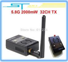 10pcs/lot Boscam FPV 5.8GHz 32CH 2000mW Wireless Audio Vedio AV Transmitter TX TX58-2W rx for RC helicopter Free shippi toy gift