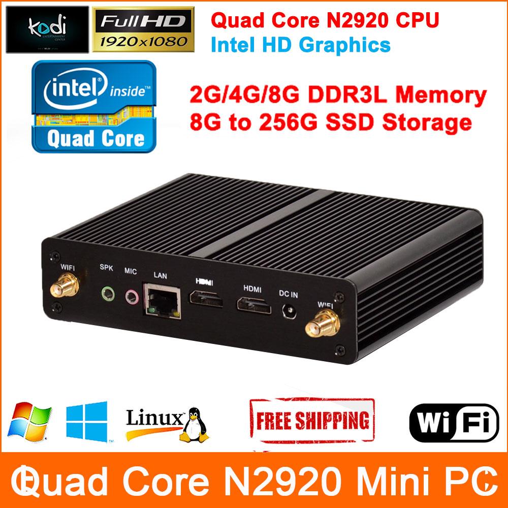 Quad Core Mini PC Windows 7 Celeron N2920 Processor Mini Computer Full HD 1080P output Barebone Mini Computer HDMI Computador(China (Mainland))
