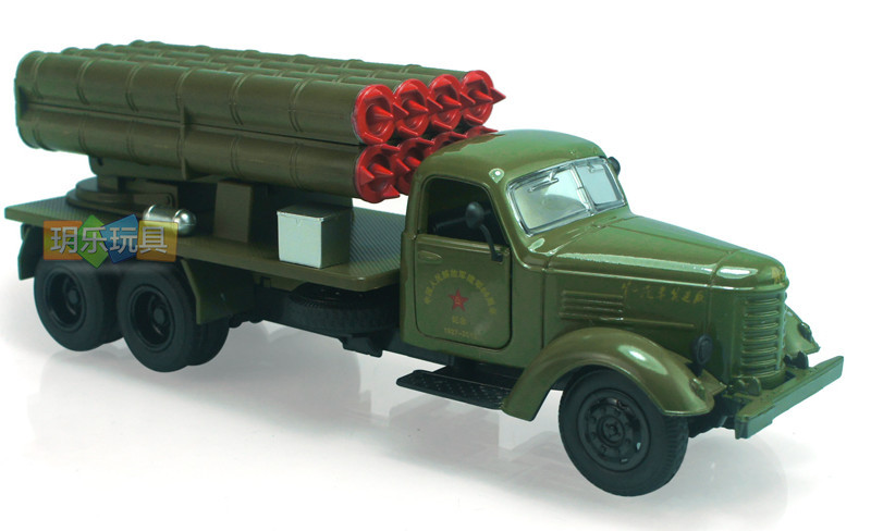 Rocket Launcher Truck Car Pull Back Musical Flashing 20*7*6cm 1:32 Alloy Vehicles Toys Gifts Models With Battery(China (Mainland))