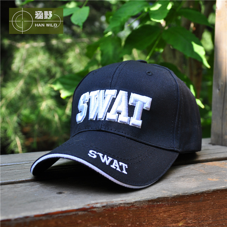 2015 New Hot Sell SWAT Caps Outdoor Sports UV 1Color Black Tactical Baseball Cap Men Women Gorras Snapback SWAT Caps(China (Mainland))