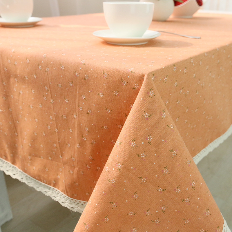 Hot sale pastoral style cotton cloth tablecloths quality fresh flowers a generation of fat cover coffee table towel(China (Mainland))