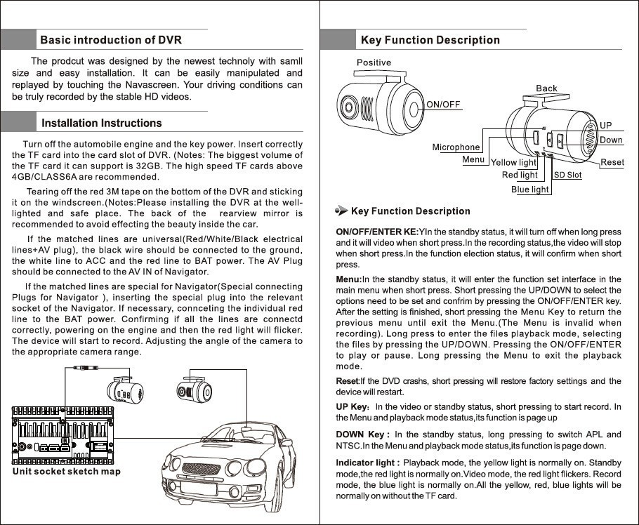 Купить HD MINI автомобильный dvd-камера DVR Автомобилей Даш Видеокамера Даш Cam С g-сенсором Для Dvd-плеер широкий угол