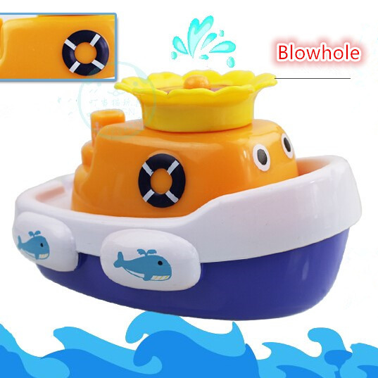 Bath Toys Automatic Sprinkler Whale Boat Gift for Girls Boys Child Kids Baby Infant New Shower Swimming Toy 100% Green Material(China (Mainland))