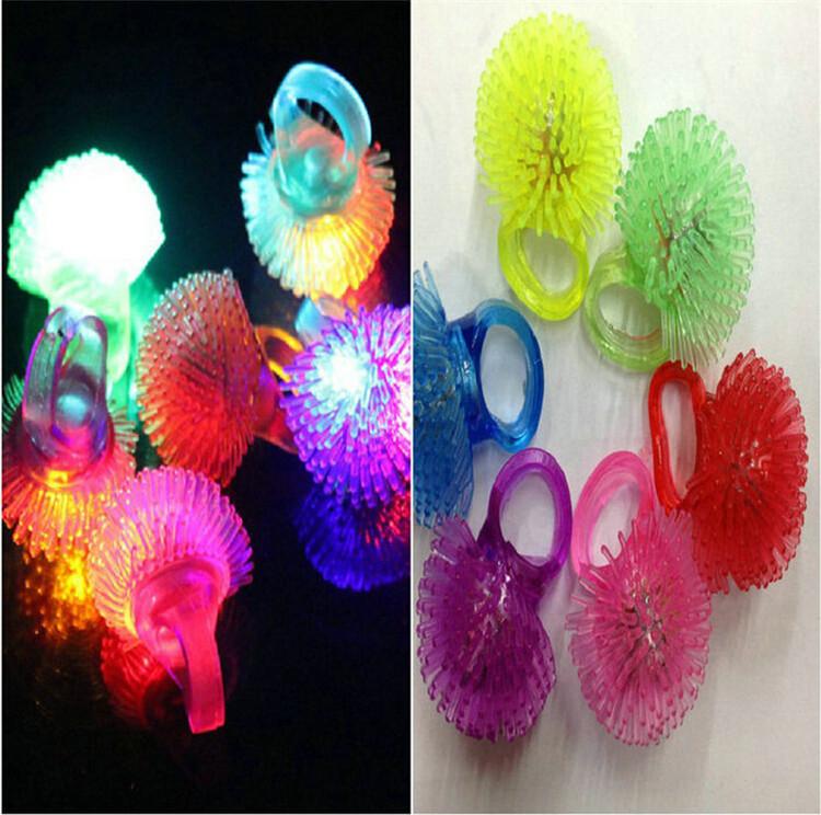 30pc/lot Luminous ring LED ring Party gift Christmas LED Toys ring strawberry soft LED light glow up ring christmas toy for kids(China (Mainland))
