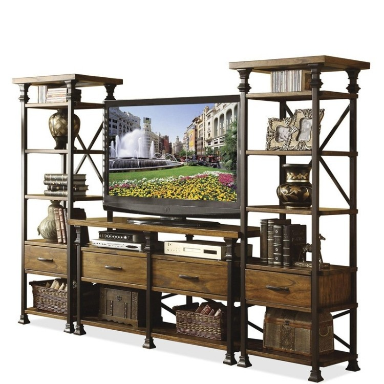 Tv cabinet american country to do the old wrought iron for American furniture warehouse tv stands