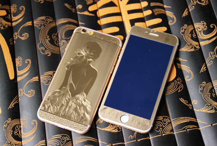 0.3mm Front+Back Luxury 9H 3D Painting  Full Cover Color Tempered Glass Case for Iphone 5 5S SE 6 6s Plus Screen Film Cover Case