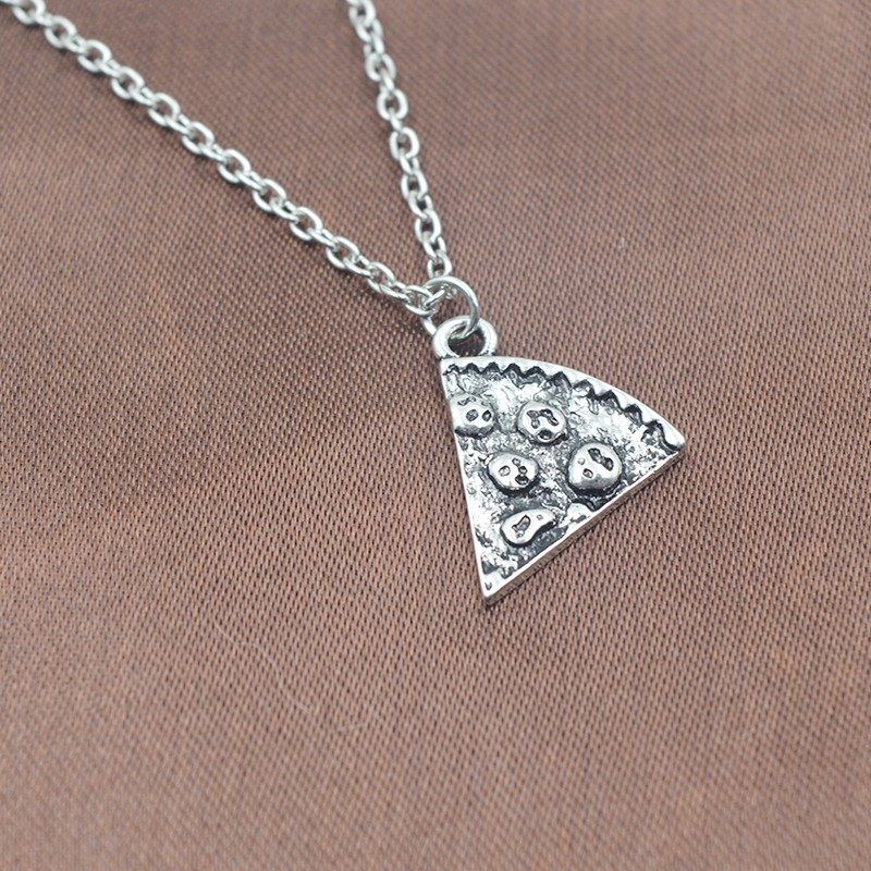 pizza friendship necklace for 6 chokers pendants