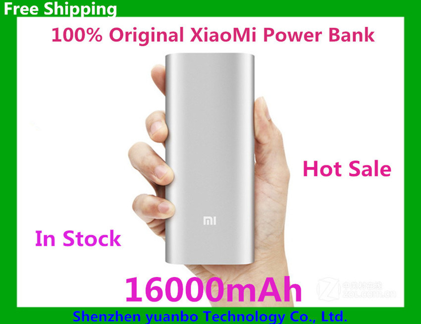 Original xiaomi Power Bank 16000mAh Portable Powerbank External Battery Pack Charger for iPhone xiaomi huawei android phone(China (Mainland))