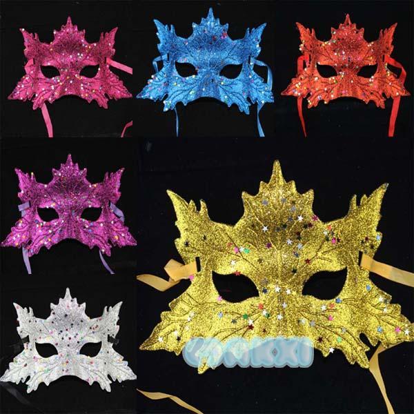 Original Italian wind mask leaves Maple leaf powder party(China (Mainland))