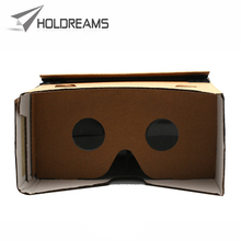 Novelty DIY Cardboard Virtual Reality VR Mobile Phone 3D Viewing Glasses for 5 inch Screen High