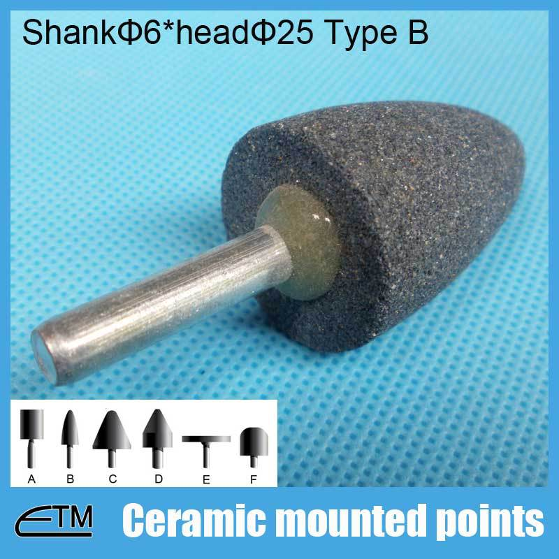 Chinese supply brown alumina grinding head for internal abrasiving head 25 shank 6 M090459<br><br>Aliexpress