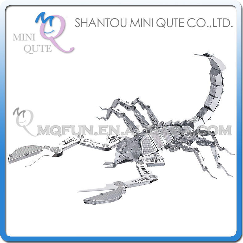 Mini Qute 3D Metal Puzzle Scorpion insect animal Adult kids model educational toys gift NO.L11104(China (Mainland))