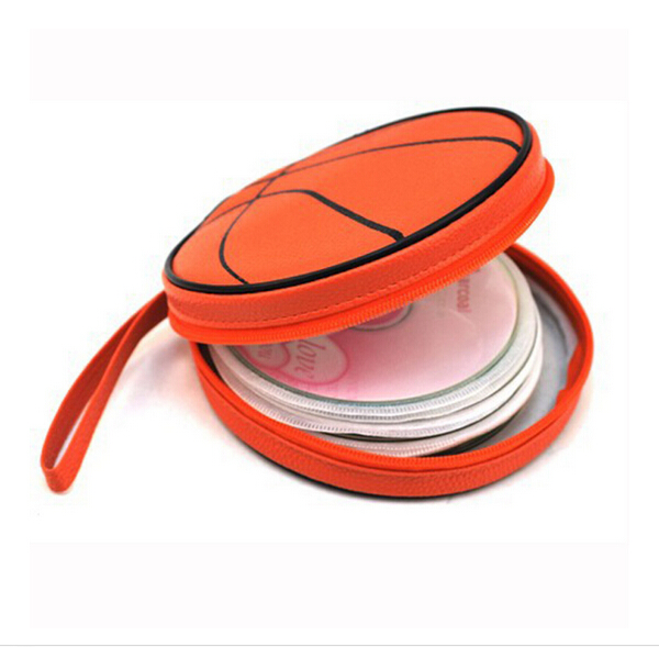 20 Disc CD Holder DVD Case Storage Wallet VCD Organizer non-woven Polypropylene Bag Basketball Pattern(China (Mainland))