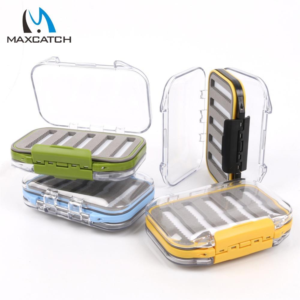 Maxcatch Waterproof Fly Fishing Box With Slit Foam Fish Lure Hook Bait Fly Box Fishing Tackle Box(China (Mainland))