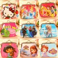 3D girl wallet bag ladies face Молния Мини cat coin purses dog Детский's purse ...