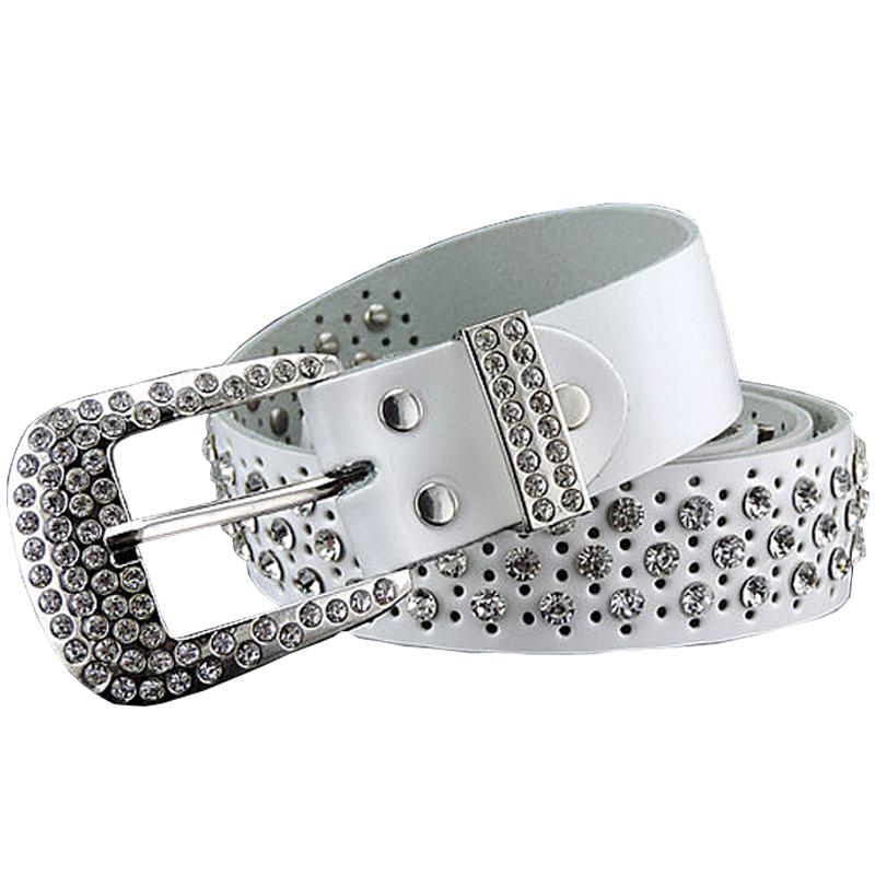 2016 new fashion luxury designer rhinestones belts for women high