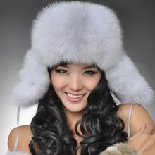Chopop Fur 2015 Winter Fur Hat Genuine Fox Fur Caps Raccoon Fur Multi-color Ushanka Bomber Hats for Russian Women Free shipping(China (Mainland))