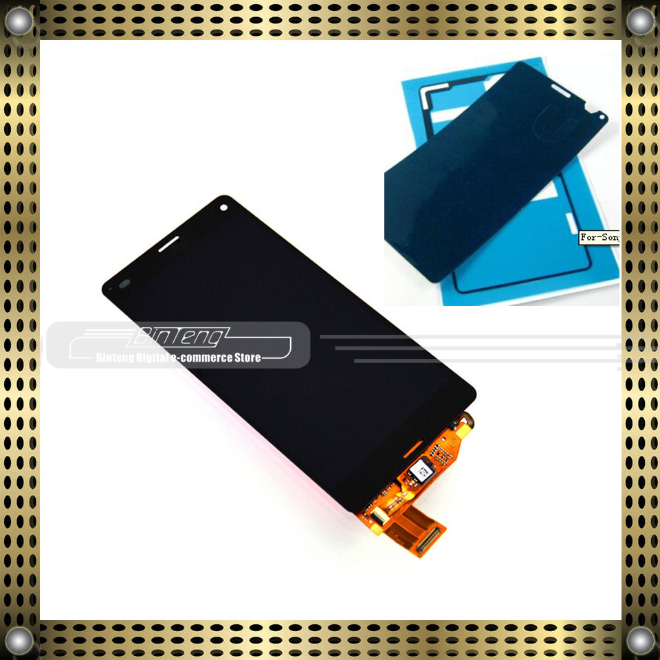 LCD display Touch Screen Digitizer Assembly for Sony Xperia Z3 MIni Compact D5803 D5833 with free tools (Black)