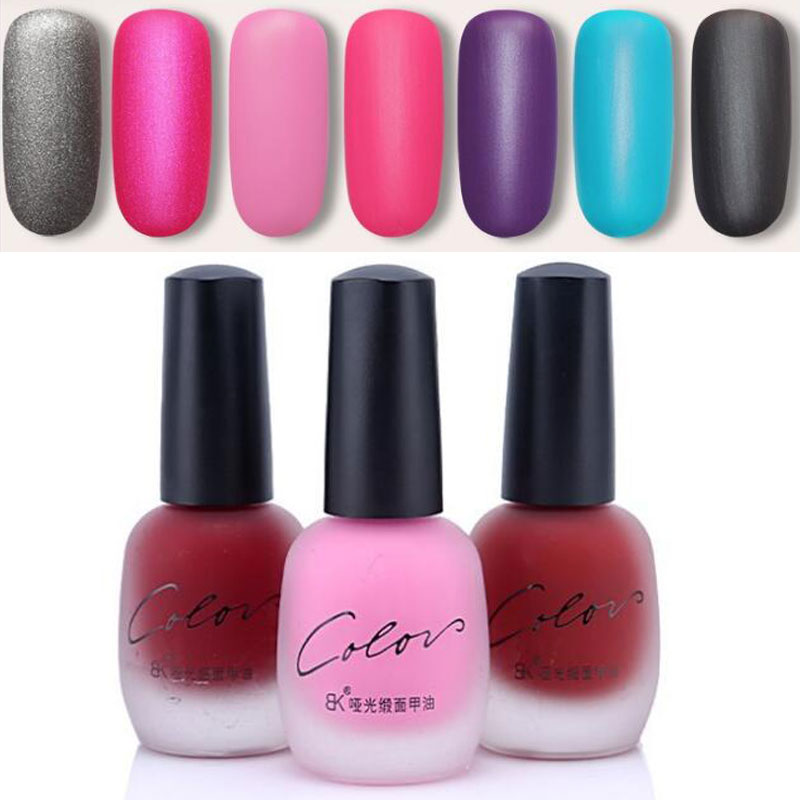 20 Colors Colorful Long Lasting Matte Nail Polish Liquid Gel Nail Polish DIY Nail Art Tool for Women Girls(China (Mainland))