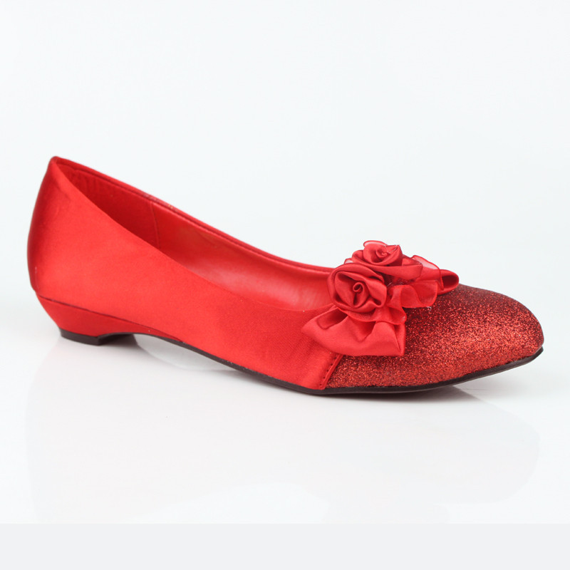 Red Weding Shoes Low Hel 028 - Red Weding Shoes Low Hel