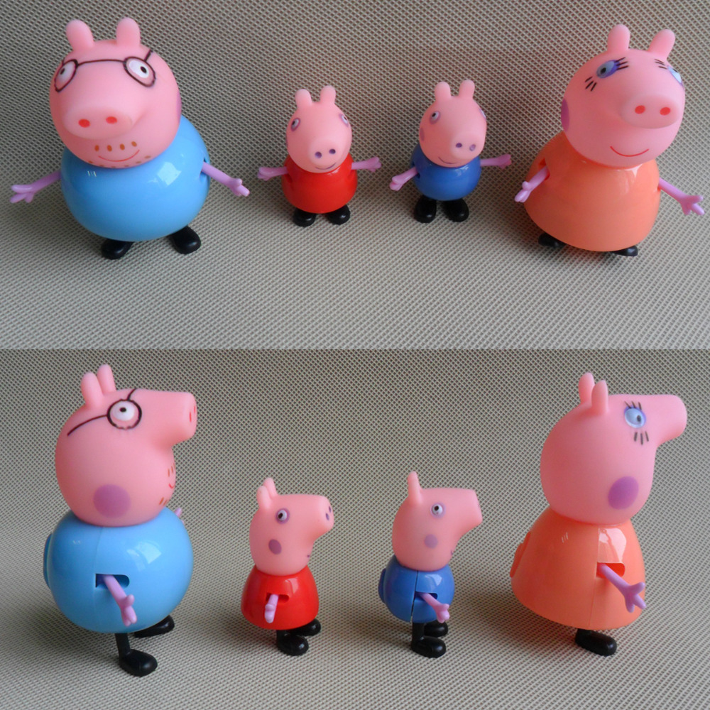 Plastic Pig Toy Juguetes PVC Family Action Figures Baby Kid Birthday Gift(China (Mainland))