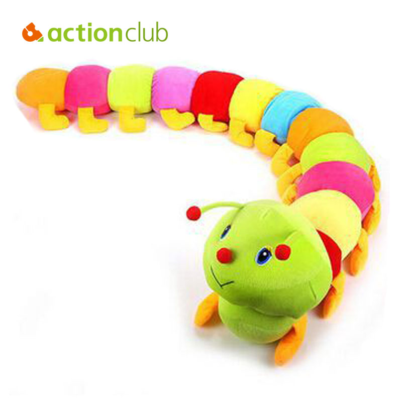 1PCS 50cm Baby Toys Colorful Caterpillars Millennium Bug Doll Plush Toys Large Caterpillar Hold Pillow Doll toys for children(China (Mainland))