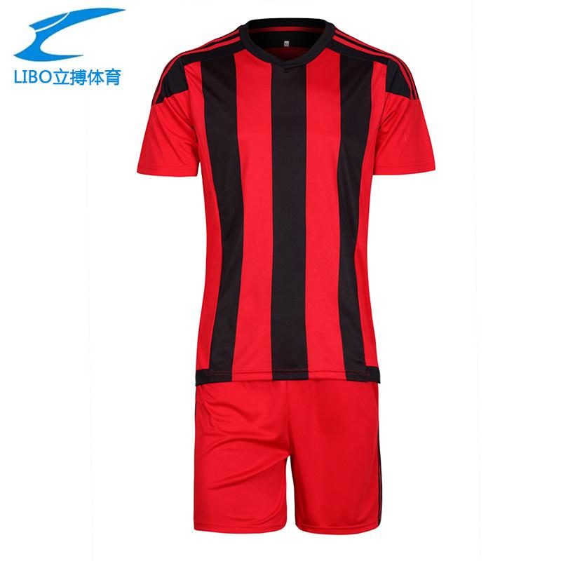 LIBO 2016 17 Hot Sale Soccer Training Jersey Suit Survetement Football Men's Blank Short De Foot Breathable Team Sportwear Set(China (Mainland))