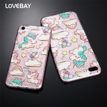 Buy Lovebay Glitter Bling Powder Phone Case iPhone 7 7 Plus 6 6s Plus 5 5s SE Cute Cartoon Rainbow Unicorn Soft TPU Phone Case for $1.18 in AliExpress store