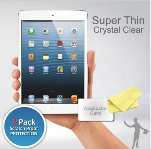 3xHD Clear Screen Protector for iPad 5 iPad air iPad air 2 Anti Scratch Protective Tablet Guard Film with Retail Package(China (Mainland))
