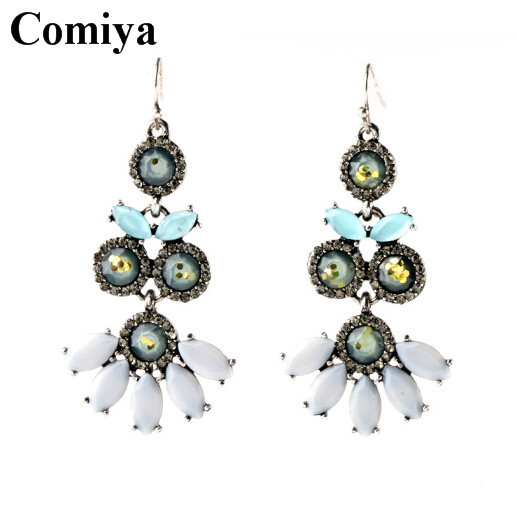 2015 Summer Style fashion Vintage Statement Earrings Crystal Jewelry Big eardrop for Women Jewelry Bohemian Long Earring Brincos(China (Mainland))