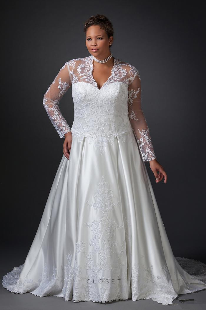 Online buy wholesale wedding dresses for large breasted for Wedding dresses for larger sizes