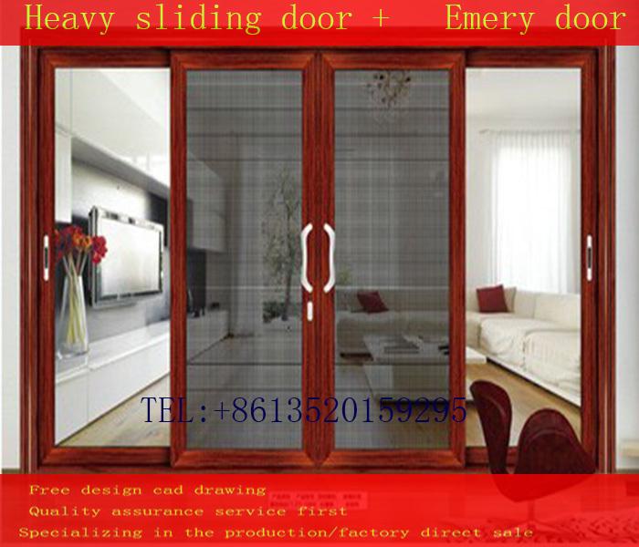 Open Kitchen Sliding Door Crane Rail Full Toughened Glass