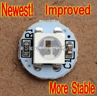 100 x mini board (10mm*3mm) WS2812B Heatsink 5V WS2811 WS2812 built-in RGB led pixel nodes Addressable led module Free Shipping(China (Mainland))