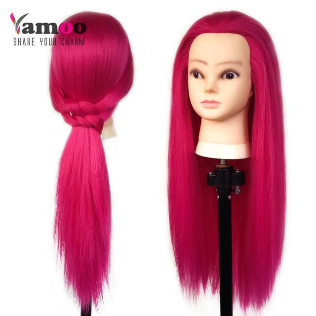 Professional65cm парикмахерские куклы глава замечательный розовый цвет женский манекен ...
