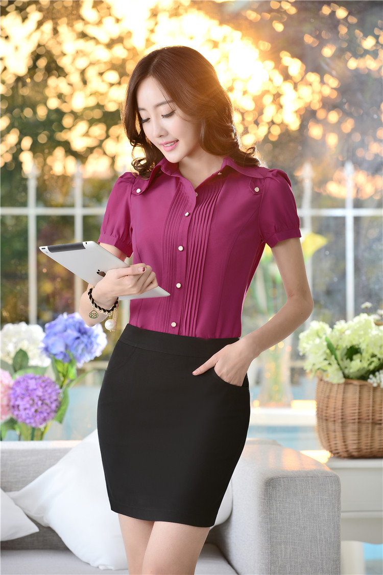 Office Uniform Designs Women Suits With Skirt And Blouses