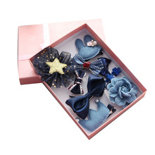 Buy 1 Set, 10pcs Mix Style Kids Hair Bows Full Covered Clips Hair Clips mini Hair Pins Crown Girls Hair Accessories for $5.40 in AliExpress store