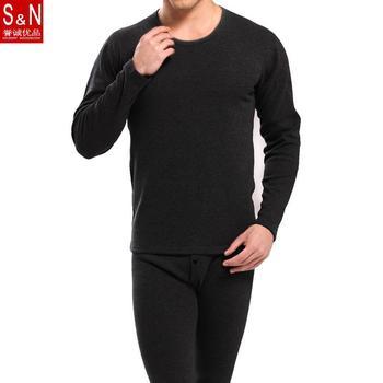 S и N Bmail добавить шерсть человек термобелье кальсоны круглым воротом мужской хлопчатобумажное белье бархат костюм XL XXL XXXL YP7