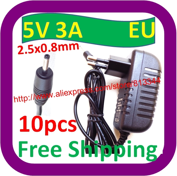 10 pcs Free Shipping 5V 3A 2.5mm power adapter charger for Ainol novo 9 Hero II Spark Firewire quad tablet pc sanei n10 3g(China (Mainland))