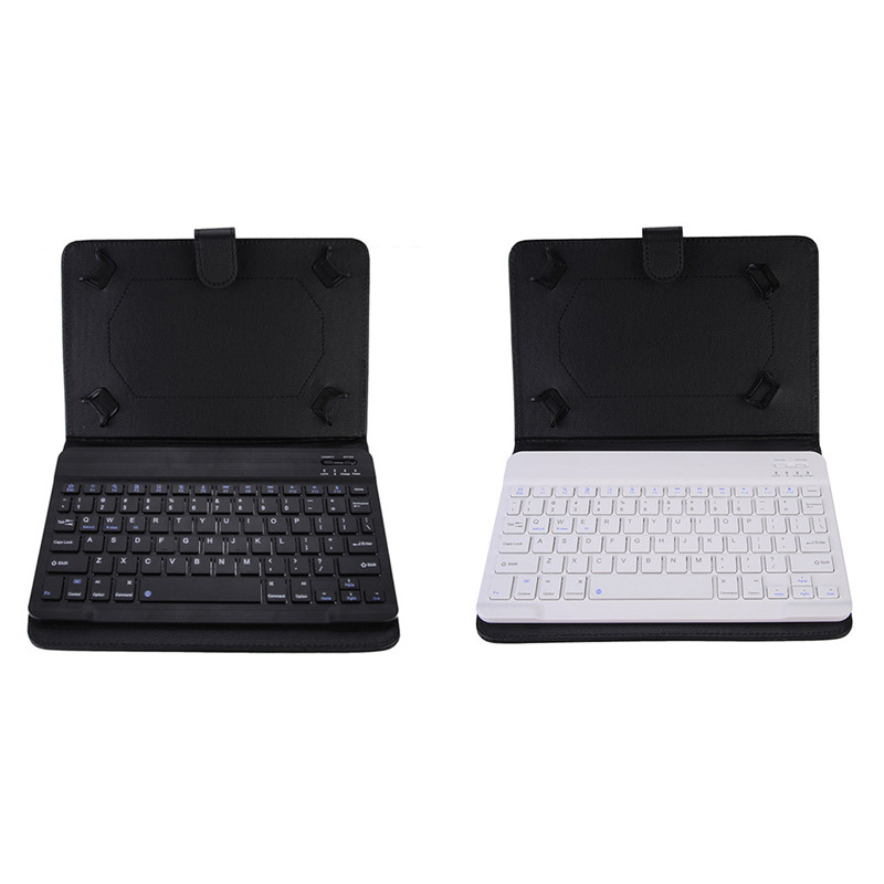 English Version 10 inch PU Holster Bluetooth Keyboard For Smartphone Laptop Tablet Stand by iOS /Apple/ Android / Windows System(China (Mainland))