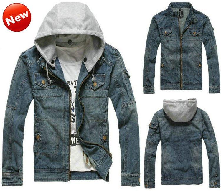Denim Jean Jacket With Hooded