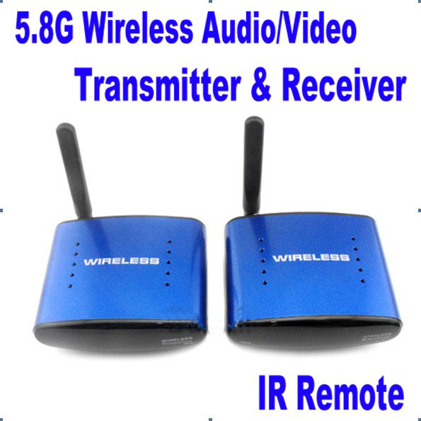 New PAT 530 5.8G Wireless AV TV Audio Video Sender Transmitter Receiver IR Remote Support 8 Ground 200m for IPTV DVD STB DVR(China (Mainland))