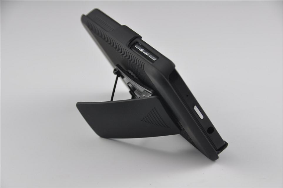 New Arrival Fashion Hard Black Swivel Belt Clip Shell Holster Combo Case Stand Cover for Blackberry Laguna/Z10 Free Shipping