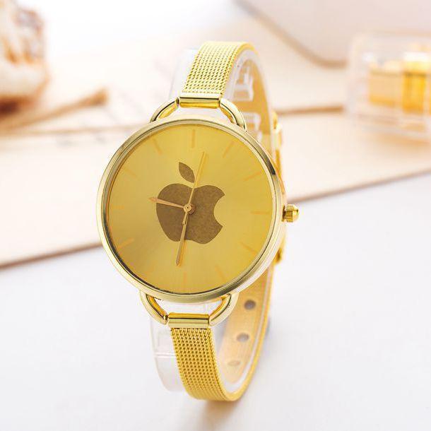 New Luxury Brand Stainless Steel Watch Fashion Analog Quartz Wrist watch Gold Watch Women Dress Watch Clock Relogio(China (Mainland))