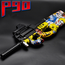 Buy Electric Plastic P90 Graffiti Edition Toy Gun Soft Water Bullet Toy Gun Outdoors Live CS Weapon Tattoo Water Gun Toys Kids for $43.69 in AliExpress store