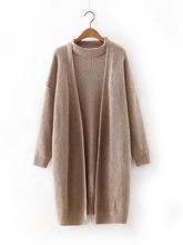 Autumn Sweater 2016 Solid two-piece bat sleeve cardigan sweater Long Women's Sweaters  XY6305(China (Mainland))