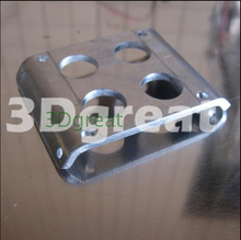 3D printer parts Ultimaker  Insulated aluminum block print /3D fan mounting bracket  support the installation of double fan