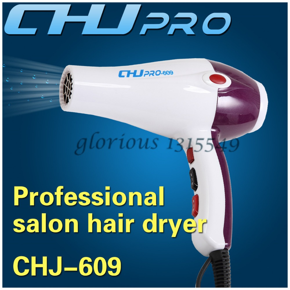 2400w Styling And Drying Hair Blow Dryer Professional Salon Hair Dryer CHJ609 With 2 Nozzles Retail Box Secador De Cabelo