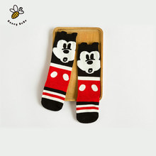 Cute Mouse Baby Girl Socks Soft Cotton Knee Long Children's Socks Kids Leg Warmers Meias Infantil(China (Mainland))