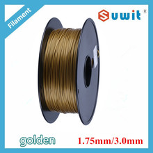 golden DIY PLA 3D filament, 1.75mm / 3.0mm 1kg Varied Colors Available 2015 Upgraded for 3d printer